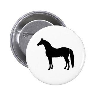 Desenho elegante da silhueta do cavalo do garanhão boton