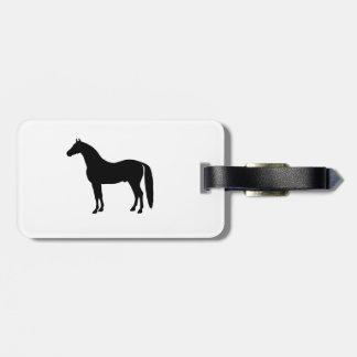 Desenho elegante da silhueta do cavalo do garanhão etiquetas para bagagem