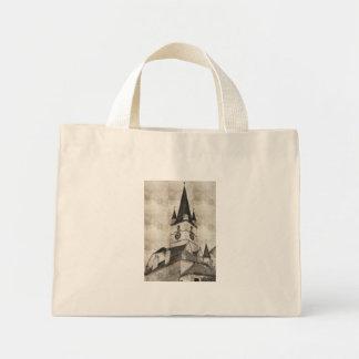 Desenho evangélico da torre de igreja bolsas de lona