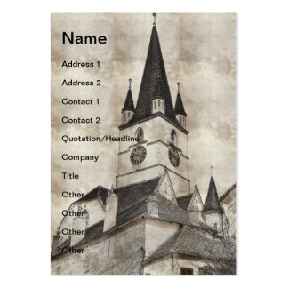 Desenho evangélico da torre de igreja cartão de visita grande