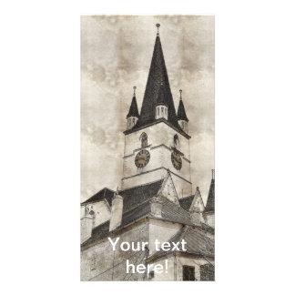 Desenho evangélico da torre de igreja cartoes com foto