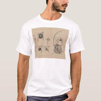 Desenho japonês surpreendente do arqueiro cerca de camiseta