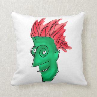 Desenho louco do homem almofada