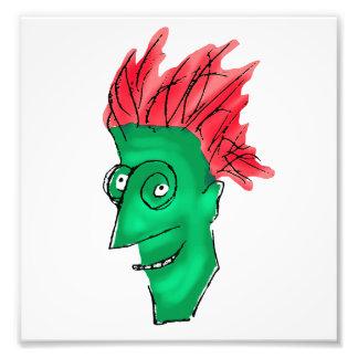 Desenho louco do homem impressão de foto