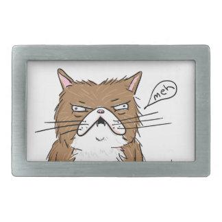 Desenho mal-humorado engraçado do gato de Meh