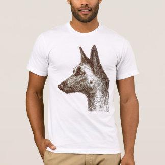 desenho malinois camisetas
