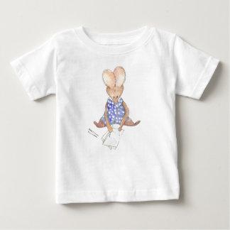 Desenho pequeno de Mary do rato Camiseta Para Bebê