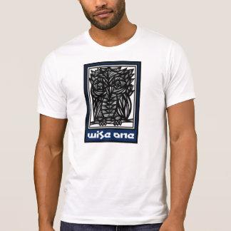Desenho preto branco azul dos trabalhos de arte da camiseta