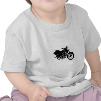 Desenho preto e branco da motocicleta t-shirts