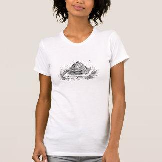 Desenho preto e branco do vintage da colmeia camiseta