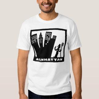 Desenho preto e branco retro de Manhattan Tshirts