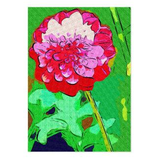 Desenho vermelho da flor cartão de visita grande