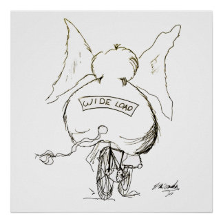 Desenhos animados 1078 da bicicleta poster