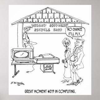 Desenhos animados 1331 do computador poster