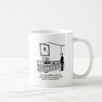 Desenhos animados 1814 do milionário caneca de café