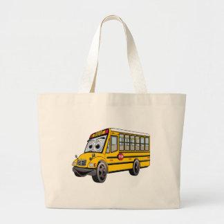 Desenhos animados 2017 do auto escolar bolsa tote grande