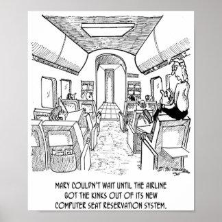 Desenhos animados 2154 do vôo pôster