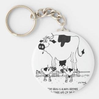 Desenhos animados 3372 da vaca chaveiro
