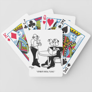 Desenhos animados 4334 do restaurante baralhos para poker