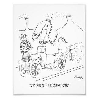 Desenhos animados 9325 da extinção impressão de foto