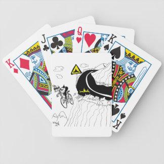 Desenhos animados 9334 da bicicleta carta de baralho
