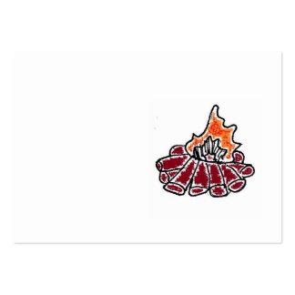 Desenhos animados acolhedores da fogueira cartao de visita