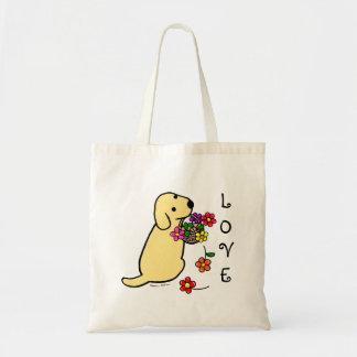 Desenhos animados amarelos da cesta da flor do fil bolsas para compras