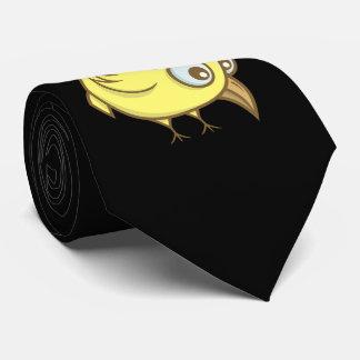 Desenhos animados amarelos do pássaro gravata