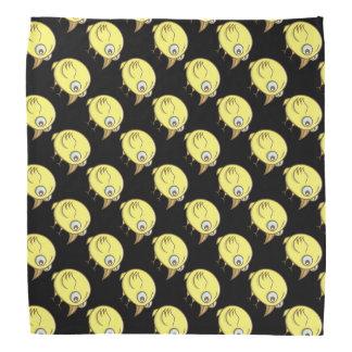 Desenhos animados amarelos do pássaro lenço