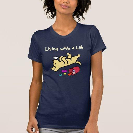 Desenhos animados amarelos engraçados de Labrador T-shirt