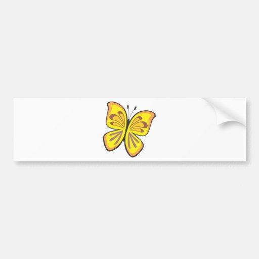 Desenhos animados amarelos legal da borboleta adesivo