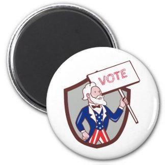 Desenhos animados americanos da crista do voto do imã