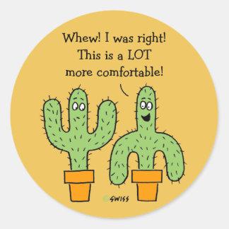 Desenhos animados americanos engraçados do cacto adesivo