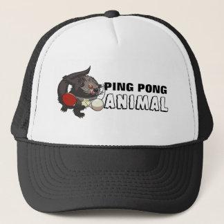 Desenhos animados animais do ténis de mesa de Pong Boné