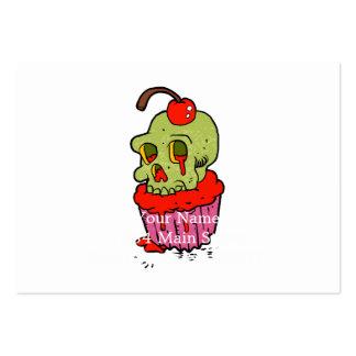 desenhos animados assustadores do cupcake do cartão de visita grande