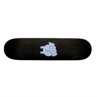 Desenhos animados azuis bonitos do elefante shape de skate 19,7cm