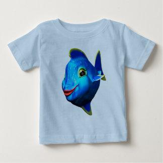 Desenhos animados azuis bonitos dos peixes tshirts