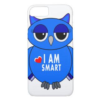 desenhos animados azuis da coruja do caso do capa iPhone 7