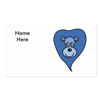 Desenhos animados azuis do leão modelo cartões de visita