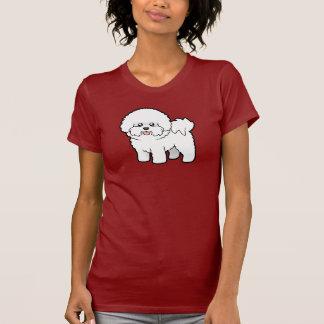 Desenhos animados Bichon Frise Camisetas