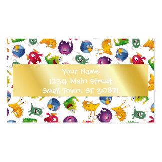 Desenhos animados bonitos coloridos do cartão de visita