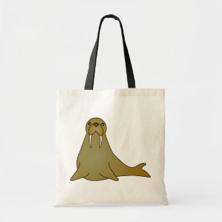 Desenhos animados bonitos da morsa bolsa