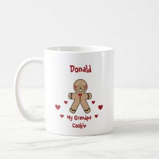 Desenhos animados bonitos do biscoito do caneca de café