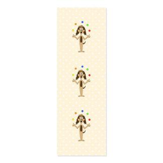 Desenhos animados bonitos do cão. Juggler. Cartão De Visita Skinny