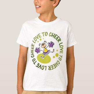 desenhos animados bonitos do cheerleader t-shirt