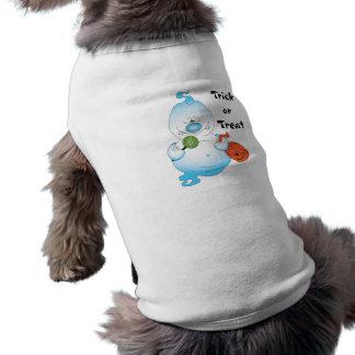 Desenhos animados bonitos do fantasma do Dia das Camisa Sem Mangas Para Cachorro