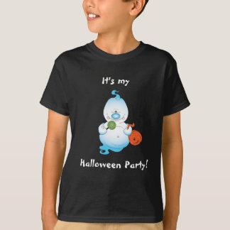 Desenhos animados bonitos do fantasma do Dia das Camiseta