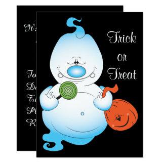 Desenhos animados bonitos do fantasma do Dia das Convite 13.97 X 19.05cm