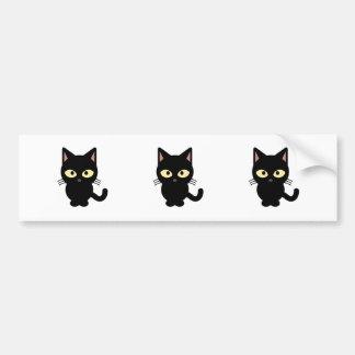 Desenhos animados bonitos do gato preto adesivo para carro