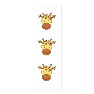 Desenhos animados bonitos do girafa cartão de visita skinny